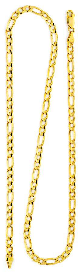 Foto 3 - Massive Figaro Flachpanzergoldkette Gelbgold 14K Luxus!, K2153