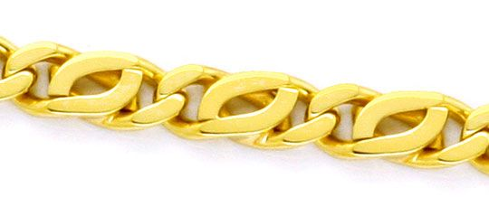 Foto 2, Goldkette, Pfauenauge Tigerauge, massiv 750 Gold Luxus!, K2154
