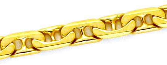 Foto 2, Massive Goldkette, gewölbte Steg-Flachpanzer 14K Luxus!, K2155
