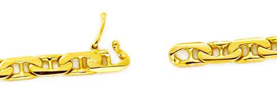 Foto 3, Massive Goldkette, gewölbte Steg-Flachpanzer 14K Luxus!, K2155