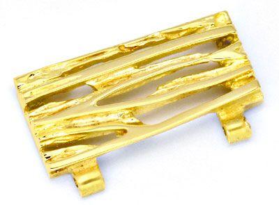 Foto 4, Gold-Armband massiv Designer-Platten, Scharniere Luxus!, K2156