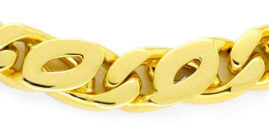 Foto 2 - Goldarmband Pfauenauge Tigerauge massiv Gelbgold Luxus!, K2157