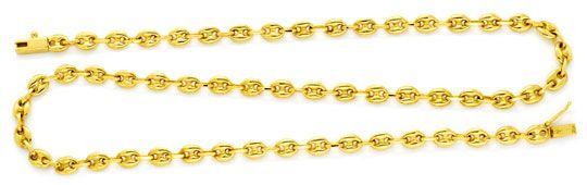Foto 1, Massive Goldkette Bohnen Marina Schiffsanker 18K Luxus!, K2158