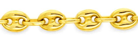 Foto 2, Massive Goldkette Bohnen Marina Schiffsanker 18K Luxus!, K2158