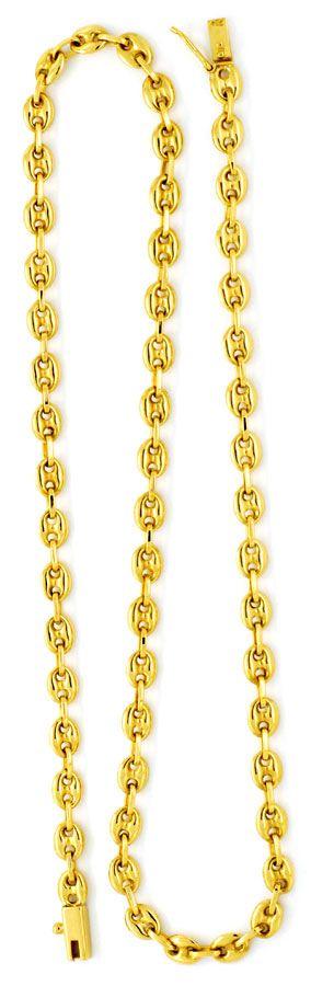 Foto 3, Massive Goldkette Bohnen Marina Schiffsanker 18K Luxus!, K2158