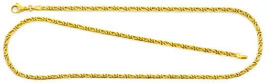 Foto 1 - Massive Tigerauge Pfauenauge Gold Kette Gelbgold Luxus!, K2159