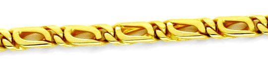 Foto 2, Massive Tigerauge Pfauenauge Gold-Kette Gelbgold Luxus!, K2159