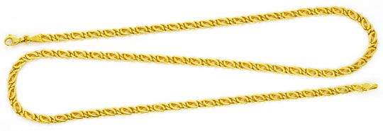 Foto 1, Massive Goldkette Gelb-Gold Pfauenauge Tigerauge Luxus!, K2160