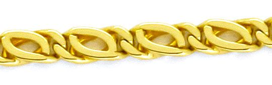 Foto 2, Massive Goldkette Gelb-Gold Pfauenauge Tigerauge Luxus!, K2160