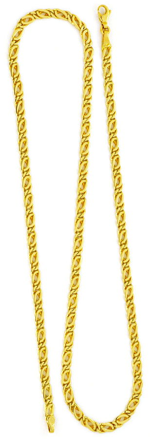 Foto 3, Massive Goldkette Gelb-Gold Pfauenauge Tigerauge Luxus!, K2160