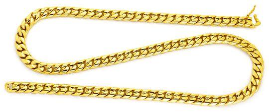 Foto 1 - Goldkette gewölbte Flachpanzer Super Massiv Schmuck Neu, K2162