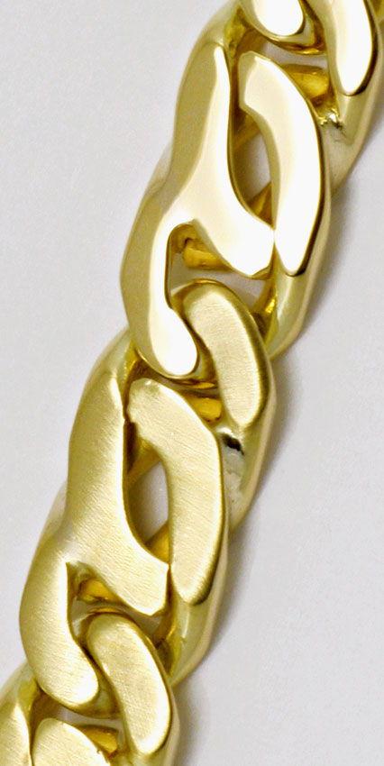 Foto 2 - Gold Armband Tigerauge Pfauenauge Teil Mattiert, Luxus!, K2165