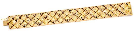 Foto 1, Designer Gold-Armband 18K Rötliches Gelbgold Luxus! Neu, K2167