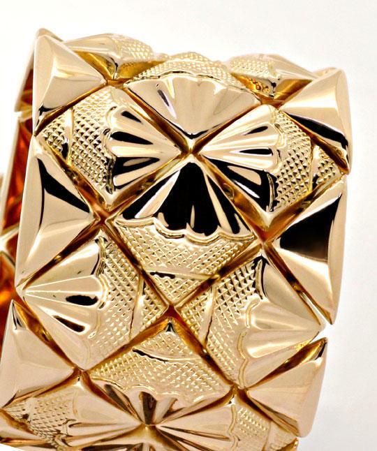 Foto 2, Designer Gold-Armband 18K Rötliches Gelbgold Luxus! Neu, K2167