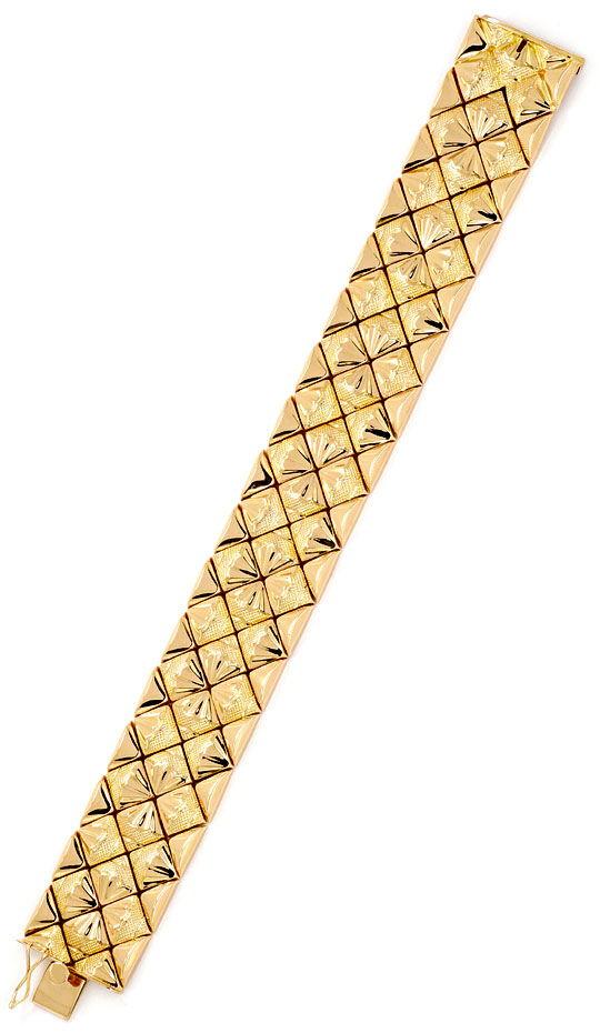 Foto 3 - Designer Gold Armband 18K Rötliches Gelbgold Luxus! Neu, K2167