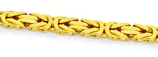 Goldkette königskette  Massive Gold-Kette Königs-Kette Gelbgold 18K/750 Luxus!, K2169