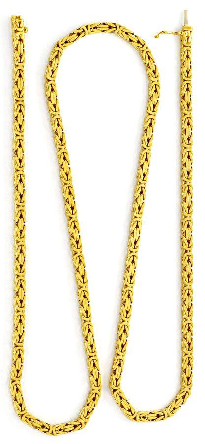 Foto 3 - Massive Gold Kette Königs Kette Gelbgold 18K/750 Luxus!, K2169