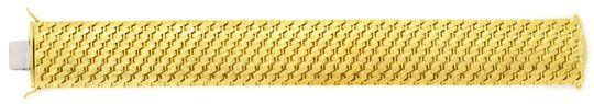 Foto 1, Design-Gold-Armband Gravurmuster in massiv 14K Gelbgold, K2171