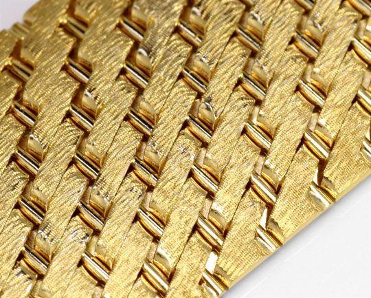 Foto 2, Design-Gold-Armband Gravurmuster in massiv 14K Gelbgold, K2171