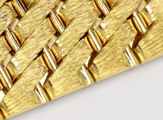 Foto 3, Design-Gold-Armband Gravurmuster in massiv 14K Gelbgold, K2171