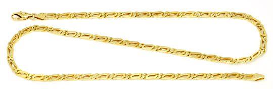 Foto 1, Pfauenauge Goldkette massiv Gelbgold 14K/585 Luxus! Neu, K2172