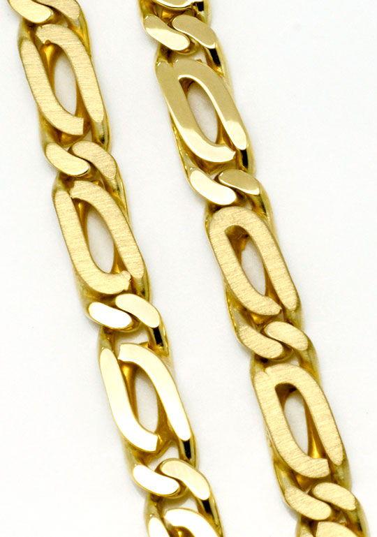 Foto 2, Pfauenauge Goldkette massiv Gelbgold 14K/585 Luxus! Neu, K2172