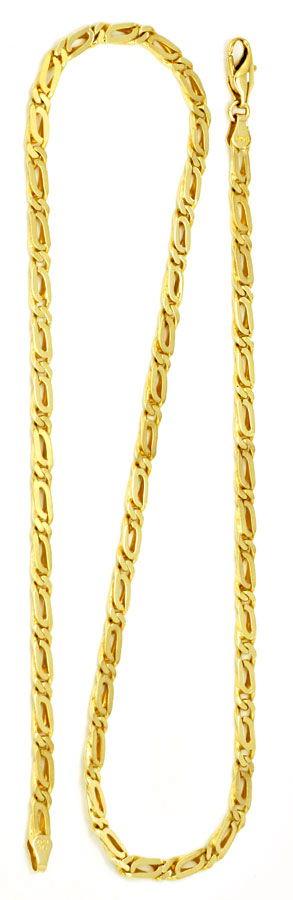 Foto 3, Pfauenauge Goldkette massiv Gelbgold 14K/585 Luxus! Neu, K2172