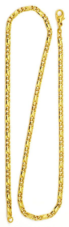 Goldkette dollar  Dollar Kette Gold-Kette massiv Gelb-Gold 14K/585 Luxus!, K2174