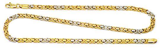 Foto 1 - Königskette Gold Kette massiv Gelbgold Weissgold Luxus!, K2175