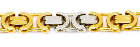 Foto 2 - Königskette Gold Kette massiv Gelbgold Weissgold Luxus!, K2175