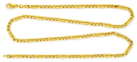 Foto 1, Massivgoldkette Flachpanzer Pfauenauge Tigerauge Luxus!, K2176
