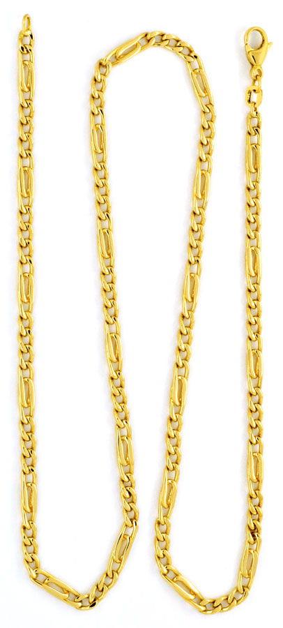 Foto 3, Massivgoldkette Flachpanzer Pfauenauge Tigerauge Luxus!, K2176