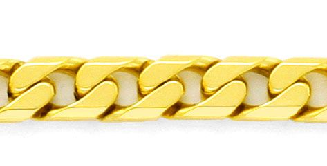 Foto 2, Flachpanzer Gold-Kette massiv 18K / 750 Gelbgold Luxus!, K2178