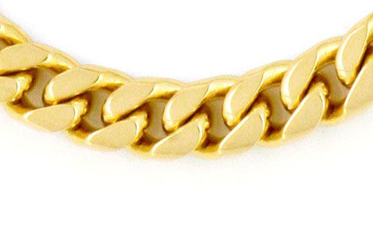 Foto 2 - Massives gewölbtes Flachpanzer Gold Armband, 14K Luxus!, K2179