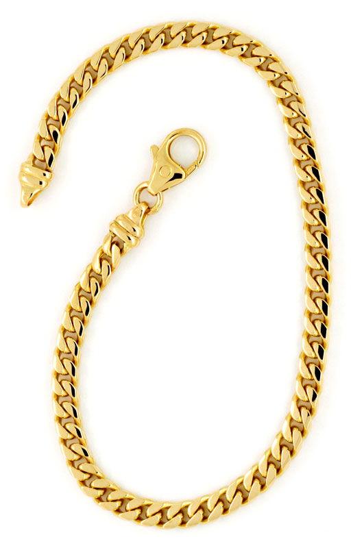 Foto 3 - Massives gewölbtes Flachpanzer Gold Armband, 14K Luxus!, K2179