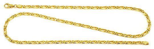 Foto 1, Pfauenauge Tigerauge Goldkette 14K Gelbgold Luxus! Neu!, K2181