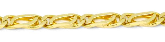 Foto 2, Pfauenauge Tigerauge Goldkette 14K Gelbgold Luxus! Neu!, K2181