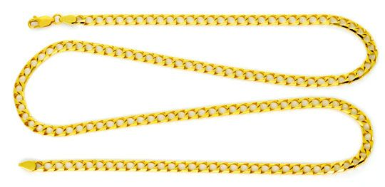 Foto 1 - Flachpanzer Gold Kette massiv Eckig 18K Gelbgold Luxus!, K2183
