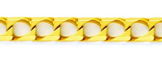 Foto 2, Flachpanzer Gold-Kette massiv Eckig 18K Gelbgold Luxus!, K2183