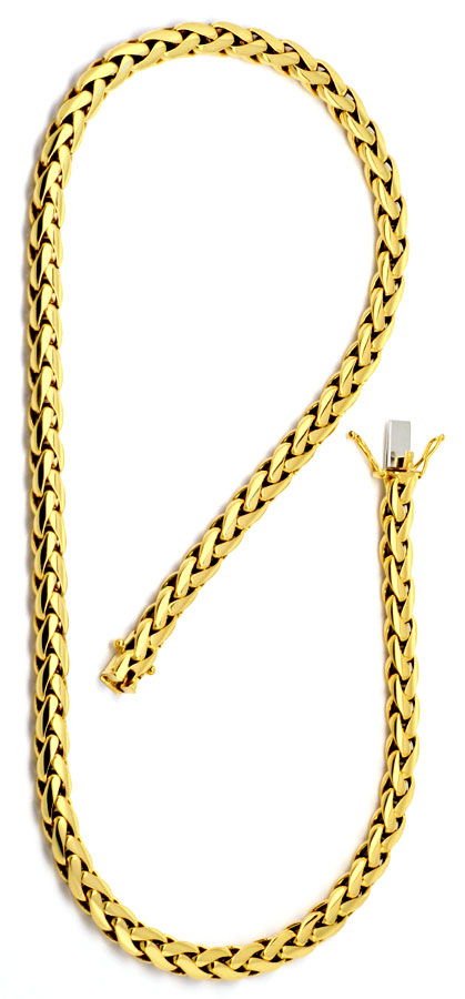 Foto 2 - Schwere Zopf Gold Kette massiv Gelb Gold 18K/750 Luxus!, K2184
