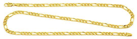 Foto 1, Figaro Flachpanzer Goldkette in massiv 18K/750 Gelbgold, K2185