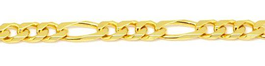 Foto 2, Figaro Flachpanzer Goldkette in massiv 18K/750 Gelbgold, K2185