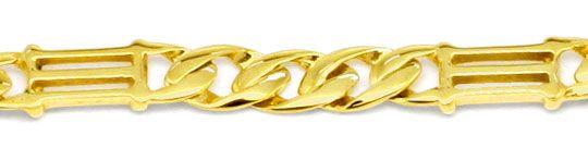 Foto 2, Tempel gewölbte Flachpanzer Goldkette massiv Luxus! Neu, K2186