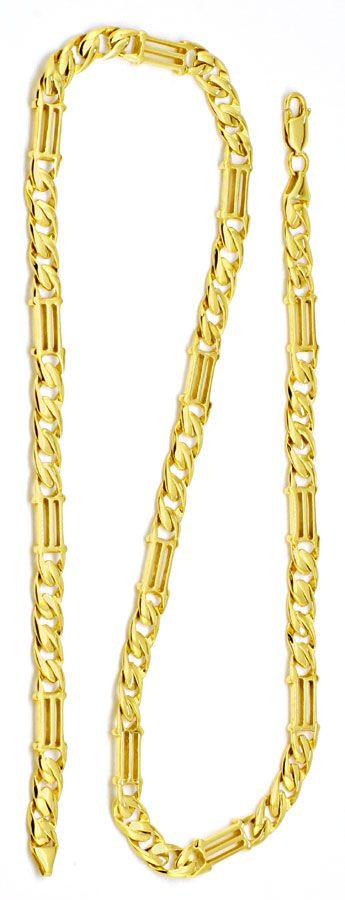 Foto 3 - Tempel gewölbte Flachpanzer Goldkette massiv Luxus! Neu, K2186