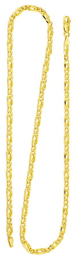 Foto 3 - Figaro Flachpanzer Goldkette massiv 18K Gelbgold Luxus!, K2187