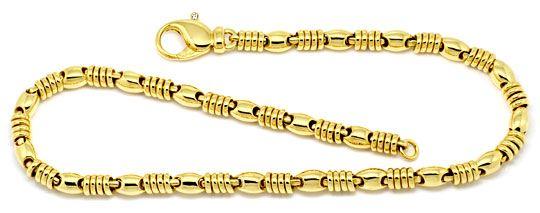 Foto 1, Designer Goldkette Diamanten Anker Goldringe Luxus! Neu, K2188