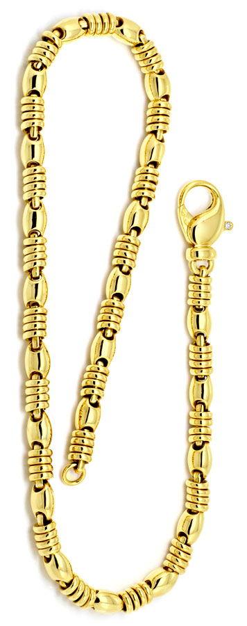Foto 3, Designer Goldkette Diamanten Anker Goldringe Luxus! Neu, K2188