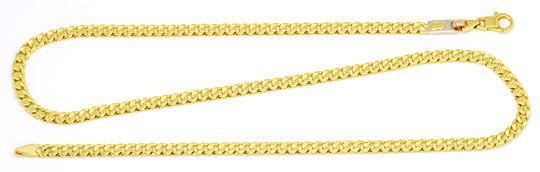 Foto 1, Designer Goldkette Gelbgold Weißgold Rotgold 18K Luxus!, K2189