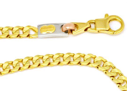 Foto 2, Designer Goldkette Gelbgold Weißgold Rotgold 18K Luxus!, K2189
