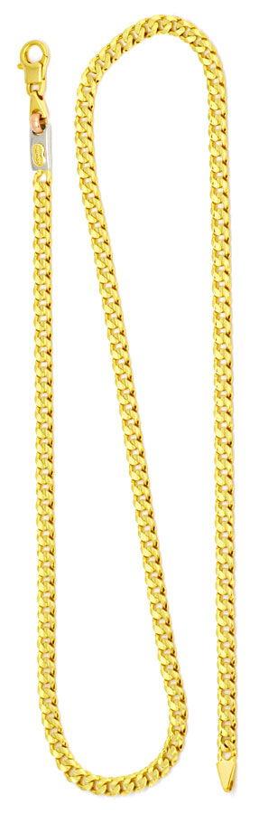 Foto 3, Designer Goldkette Gelbgold Weißgold Rotgold 18K Luxus!, K2189